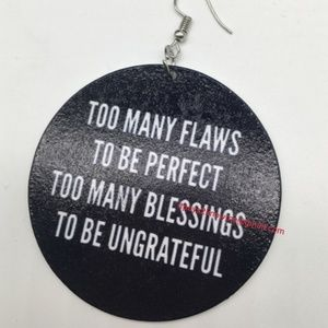 Too Many Flaws To Be Perfect... earrings